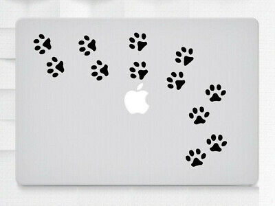 12 Cat Paw Prints Laptop MacBook iPad Tablet NoteBook Sticker Decal Vinyl Skin