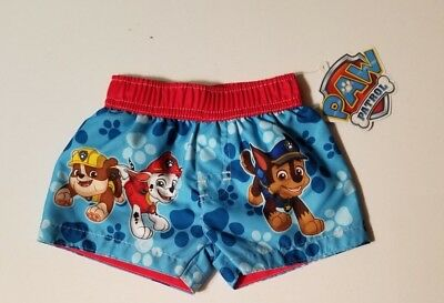 3128c81a86 NEW NICKELODEON BOYS Paw Patrol Swim Trunks Shorts Swimwear Sz 0-3 ...