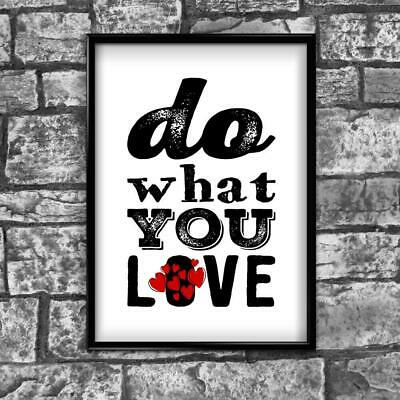 Love Motivational Inspirational Positive Thoughts Quote Poster Print Wall 33