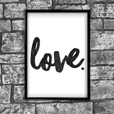 Love Motivational Inspirational Positive Thoughts Quote Poster Print Wall 44