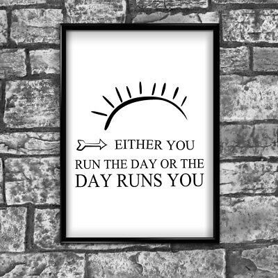 Day Motivational Inspirational Positive Thoughts Quote Poster Print Wall 59