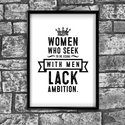 Women Motivational Inspirational Positive Thoughts Quote Poster Print Wall 60