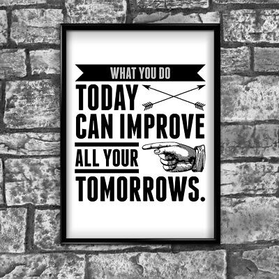 Tomorrow Motivational Inspirational Positive Thoughts Quote Poster Print Wall 65