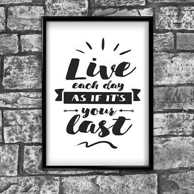 Motivational Inspirational Positive Thoughts Quote Picture Poster Print Wall 100