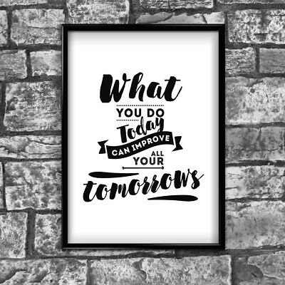 Motivational Inspirational Positive Thoughts Quote Picture Poster Print Wall 109