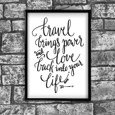 Motivational Inspirational Positive Thoughts Quote Travel Poster Print Wall 143