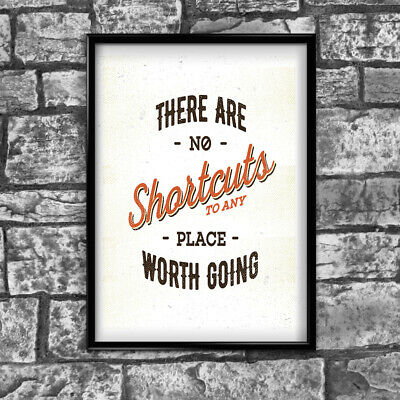 Motivational Inspirational Positive Thoughts Quote Picture Poster Print Wall 155