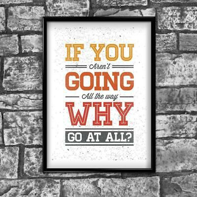 Motivational Inspirational Positive Thoughts Quote Picture Poster Print Wall 158