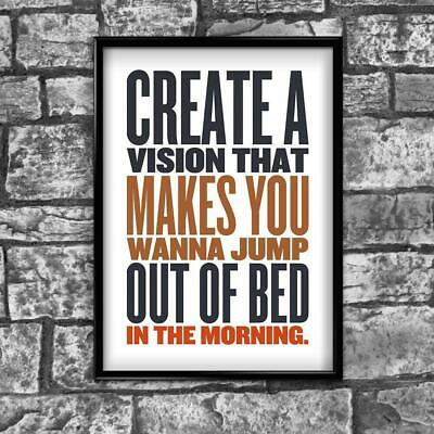 Motivational Inspirational Positive Thoughts Quote Picture Poster Print Wall 166