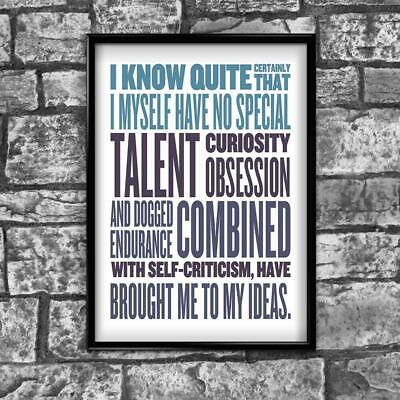 Motivational Inspirational Positive Thoughts Quote Picture Poster Print Wall 174
