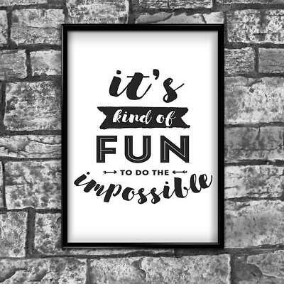 Motivational Inspirational Positive Thoughts Quote Picture Poster Print Wall 176