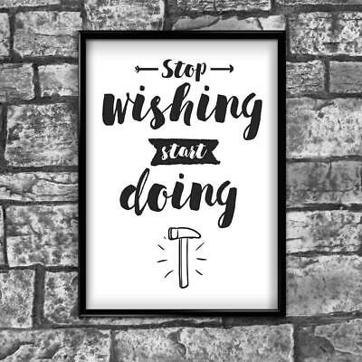 Motivational Inspirational Positive Thoughts Quote Picture Poster Print Wall 180