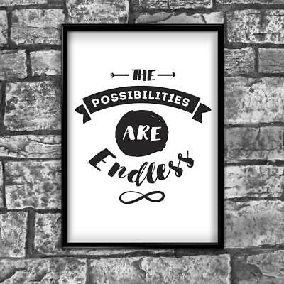Motivational Inspirational Positive Thoughts Quote Picture Poster Print Wall 183