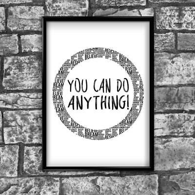 Motivational Inspirational Positive Thoughts Quote Picture Poster Print Wall 186
