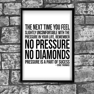 Motivational Inspirational Positive Thoughts Quote Diamond Poster Print Wall 188