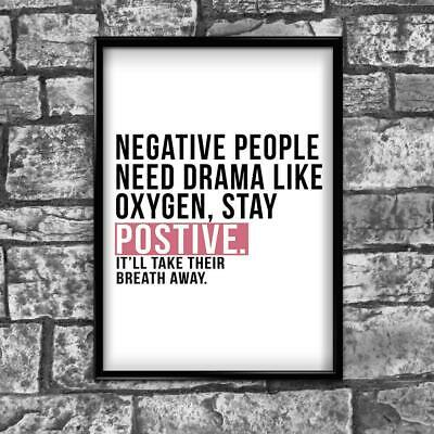 Motivational Inspirational Positive Thoughts Quote Picture Poster Print Wall 189