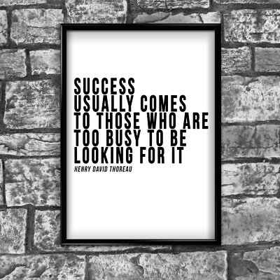 Motivational Inspirational Positive Thoughts Quote success Poster Print Wall 193