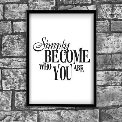 Motivational Inspirational Positive Thoughts Quote Picture Poster Print Wall 208