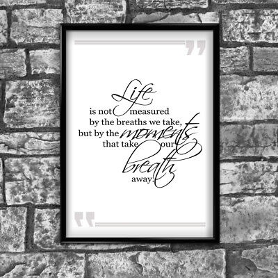 Motivational Inspirational Positive Thoughts Quote Life Poster Print Wall 239