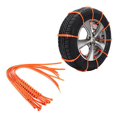 New 10 PCS Snow Tire Chain for Car Truck SUV Anti-Skid Emergency Winter Driving