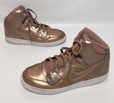 1dc19a853e42 NIKE SON OF Force Mid Trainers High Tops Shoes Womens Bronze Size 10 ...