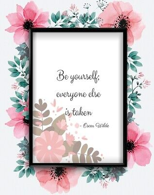 Be Yourself  Motivational Inspirational Love Postive Quote Poster Wall