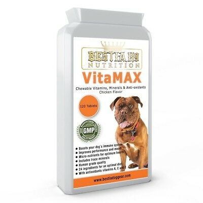 Bestia K9 Nutrition VitaMAX Multi Vitamins and Minerals for big dogs. made in UK