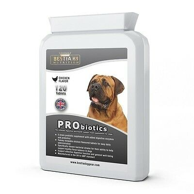 Bestia K9  Nutrition PRObiotics. Chewable tablets. Made in UK