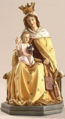 Our Lady of Mt Mount Carmel Scapular Statue, 8 Inch