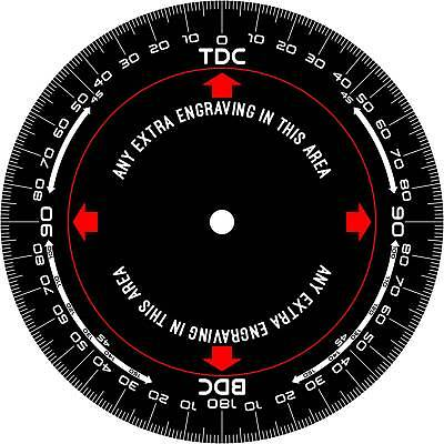 Hi-Quality Engine Timing Disc - Degree Wheel. Bespoke Laser Engraved 180mm dia