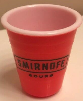 SMIRNOFF TAILGATING Shot Glass Adult Party Mini Solo Cup Bright NEW Reusable