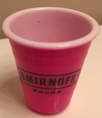 SMIRNOFF TAILGATING Shot Glass Party Mini Solo Cup NEW Reusable Hard Plastic