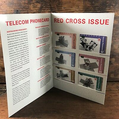 Mint Telecom Phonecard Set Of 6 Red Cross Issue Australian Phone Cards