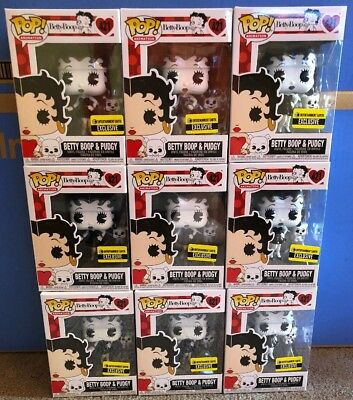 Funko Pop! Betty Boop & Pudgy Black & White #421 Entertainment Earth Exclusive