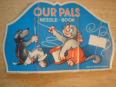Vintage Western Germany made Kitty & Pup Pals Needle Pack