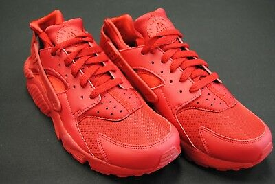 [318429 660] New Men's Nike Air Huarache Varsity Red Triple Red October Le1077