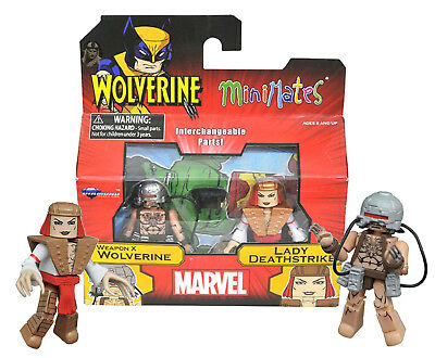 Marvel Minimates Series 72: Wolverine Lady Deathstrike Weapon X vs MISB NEW