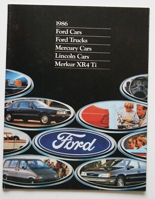 FORD 1986 dealer brochure - English - Canada - ST1002000818 MUSTANG