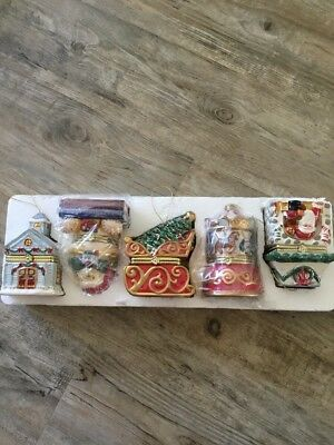 5 Mr Christmas Music Boxes Ornaments 2009