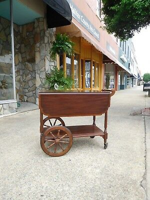Outstanding Mahogany Tea Cart crafted by Henkel Harris 20thc.