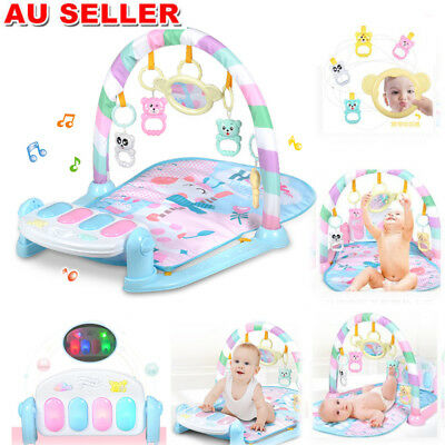 Babie Gym Play Mat Lay + Play 3 in 1 Fitness Music And Lights Piano Boy Girl AU