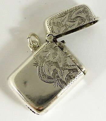 Sweet Small Antique Hallmarked 1903 Solid Sterling Silver Vesta  Layby AVAIL