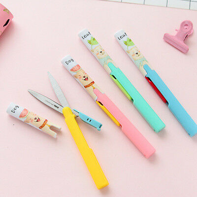 Portable Mini Pen Scissors Safe Cute Folding Shears Scissors For Kids Hand Tool