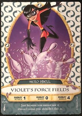 Sorcerer of the Magic Kingdom Card #21 Violet's Force Fields +2 Random - New