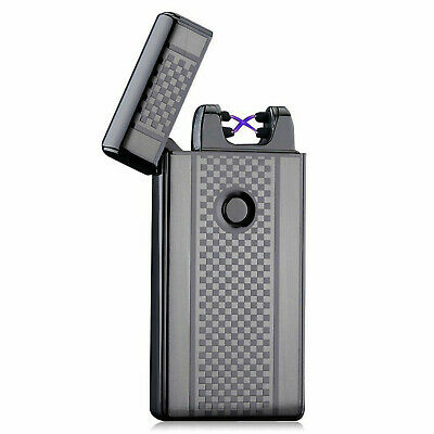 Dual Arc Electric Lighter USB-charge Plasma Windproof Flameless Cigarette