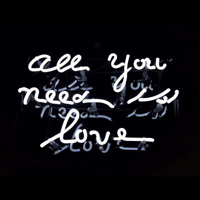 NEW ALL YOU Need Is Love Bar Pub Wall Decor Acrylic Neon Light Sign ...