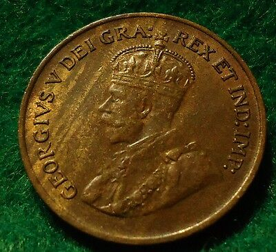 1925 Canada Small Cent King George V UNC * KEY DATE * CANADIAN Must SEE