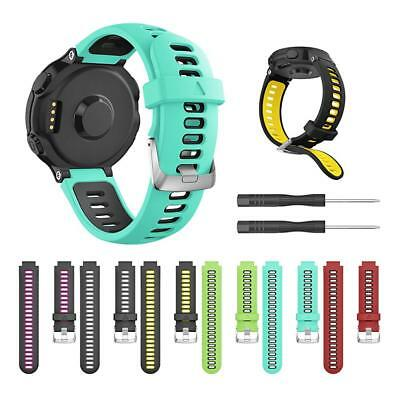 Silicone Watch Band Replacement Watch Strap for Garmin Forerunner 735XT 620 630