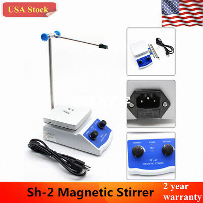 Sh-2 Magnetic Stirrer Hot Plate Dual Controls Heating 180W 110V USA STOCK
