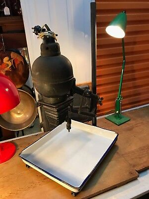 Large Antique Vintage Photographer's Film Developing Projector with Enamel Tray